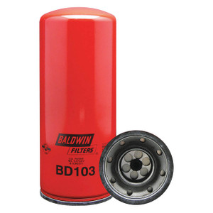 Baldwin Filters BD103 Spin-On Oil Filter, Dual-Flow Lube, 2 1/4 in. Thread, 9.8 Micron, Each