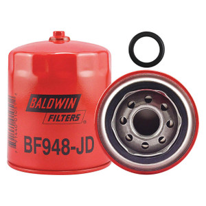 Baldwin Filters BF948JD Spin-On Fuel Filter w/Drain, 1 in. Thread, 20 Micron, Each
