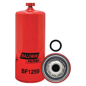 Baldwin Filters BF1259 Fuel/Water Separator Spin-on Filter w/Drain, 1 in. Thread., 10 Micron, Each