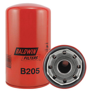 Baldwin Filters B205 Spin-On Oil Filter, Full-Flow, 1 1/2 in. Thread, 23 Micron, Each