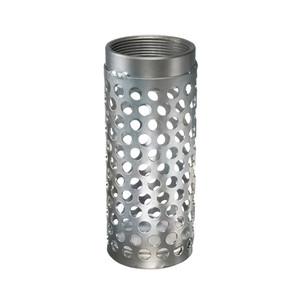 Kuriyama LHS Series Long Round Hole Zinc Plated Steel Strainer - NPSM Threads