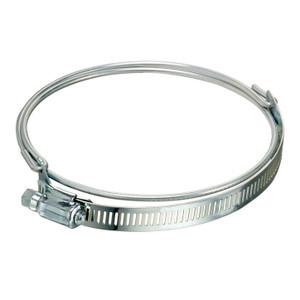 Kuriyama Stainless Steel Bridge Clamp for Ducting Hoses w/ Worm Gear Band (Clockwise)