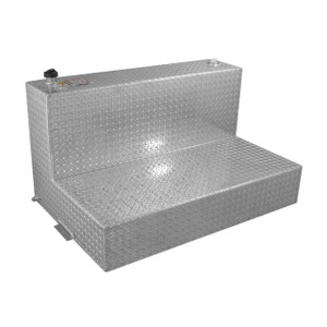 RDS Manufacturing 95 Gallon Aluminum L-Shaped DOT Certified Transfer Tank