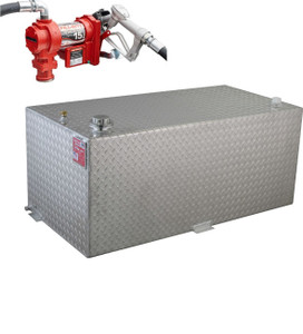 RDS 95 Gallon Aluminum DOT Certified Tank with 15 GPM Transfer Pump
