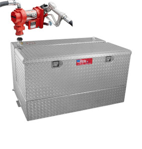RDS 95 Gallon Aluminum Combo DOT Certified Tank and Tool Box with 15 GPM Transfer Pump