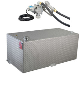 RDS 95 Gallon Aluminum DOT Certified Tank with 8 GPM Transfer Pump