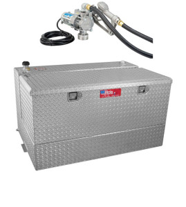 RDS 95 Gallon Aluminum Combo DOT Certified Tank and Tool Box with 8 GPM Transfer Pump