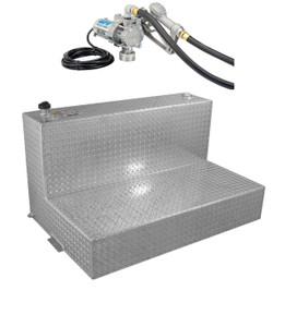 RDS 95 Gallon Aluminum L-Shaped DOT Certified Tank with 8 GPM Transfer Pump