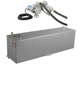RDS 50 Gallon Aluminum DOT Certified Tank with 8 GPM Transfer Pump
