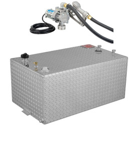 RDS 55 Gallon Aluminum DOT Certified Tank with 8 GPM Transfer Pump