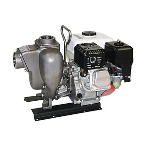 Banjo 3 in. Stainless Steel Centrifugal Pump w/ 13 HP Honda Engine, Pull Rope & Electric Start