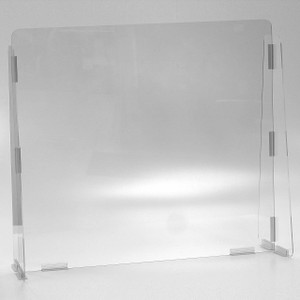 Vestil Cashier Guard 31 in. W x 10 in. D x 28 in. H Solid Panel, 1/4 in. Polycarbonate, No Message