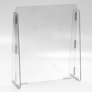 Vestil Cashier Guard 31 in. W x 10 in. D x 28 in. H Solid Panel, 1/4 in. Acrylic, No Message