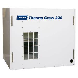 L.B. White Therma Grow 220 Heater, 220,000 BTU, LP, 1,750 CFM, 115V or 230V/60Hz/1 Phase, Galvanized Box Unit