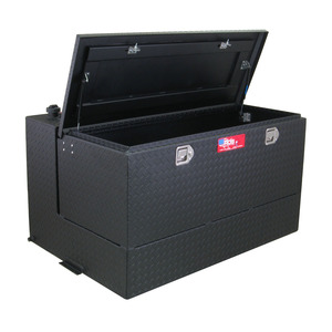 RDS Manufacturing 95 Gallon Powder Coated Aluminum L-Shaped DOT Certified Transfer Tank/Toolbox Combo