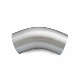 Ultibend Series 2KS Polished T316 SS 45° Buttweld Elbow w/ Tangent