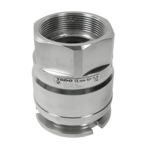 TODO-GAS 2 in. Stainless Steel LPG Dry-Break Adapter x Female NPT, Ultra Low Temp. Viton