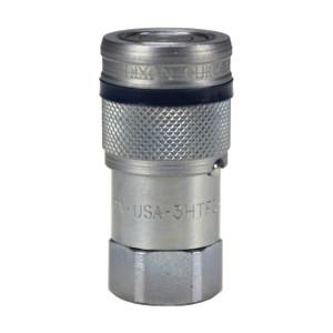 Dixon HT-Series 1 1/2 in. NPTF Correct Connect® Steel Flushface Female Threaded Coupler