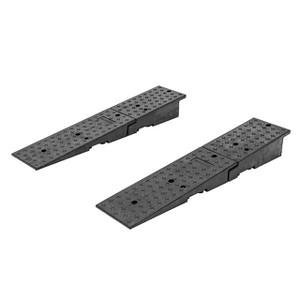 HD Ramps Rubber Dual Wedge Container Ramp Pair, 20,000 lb. Cap/ Ramp