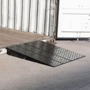 Guardian Rubber Full-Width Wedge Container 4 Ramps, 20,000 lb. Cap/ Ramp