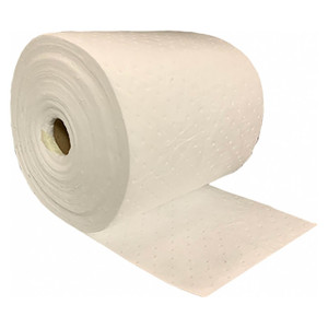 NPS Essentials 15in. x 150 ft. Oil Only Single-Ply Medium Weight Sorbent Rolls, 2 Rolls