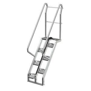 Vestil ATS Galvanized Alternate Tread Stair System 56° Step Angle