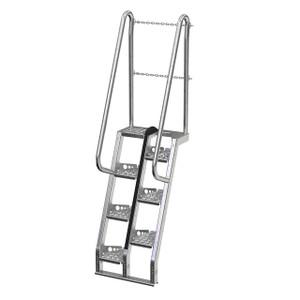 Vestil ATS Galvanized Alternate Tread Stair System 68° Step Angle
