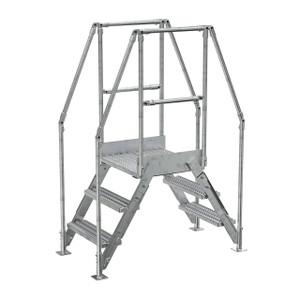 Vestil COL-3-HDG 3 Step Galvanized Cross-Over Ladder, 28-1/4 in. H Underside