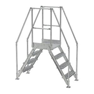Vestil COL-4-HDG 4 Step Galvanized Cross-Over Ladder, 38-1/4 in. H Underside
