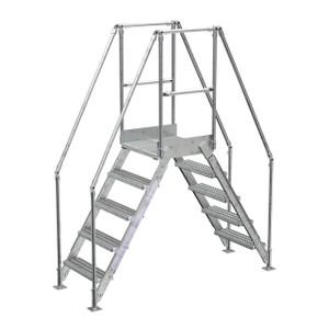 Vestil COL-5-HDG 5 Step Galvanized Cross-Over Ladder, 48-1/4 in. H Underside