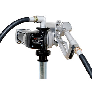 Fuelworks 12V DC Explosion Proof Fuel Transfer Pump w/ Manual Nozzle - 20 GPM