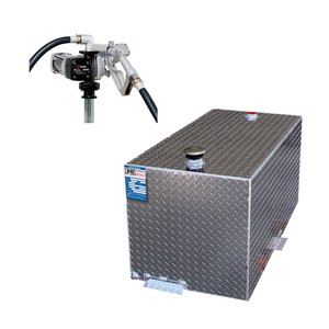 110 Gallon Fuel Transfer Tank - DOT Certified for Gas or Diesel w/ Fuelworks 12V DC Pump