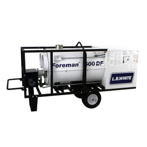L.B. White Foreman® 500 DF 500,000 BTU Indirect Fired Dual Fuel LP/NG Heater