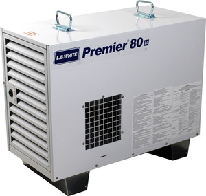 L.B. White Premier 80 2.0 Enclosed Flame Ductible 80,000 BTU LP Heater w/Thermostat and Hose