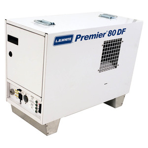 L.B. White Premier 80 DF Enclosed Flame Ductible 80,000 BTU Duel Fuel Heater w/Thermostat and Hose