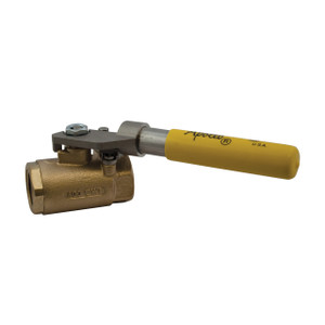 Apollo 71-500 Series 1/4 in. FNPT Bronze Ball Valve w/ Spring Return Handle - Standard Port