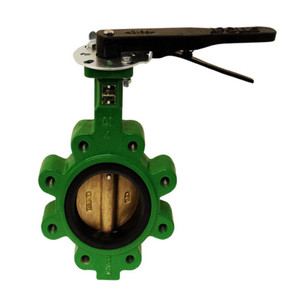 Apollo LC149 Series 4 in. 150# Flange Cast Iron Butterfly Valve, Lug Style w/ 10 Position Handle