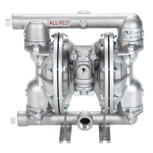 All-Flo A Series 1 in. NPT Stainless Steel Air Diaphragm Pumps, 48 GPM w/PTFE Diaphragm, O-Ring, Valve & Ball, Stainless Seat
