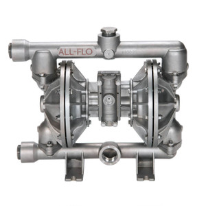 All-Flo A Series 1 1/2 in. NPT Stainless Steel Air Diaphragm Pumps, 115 GPM w/PTFE Diaphragm, O-Ring, Valve & Ball, Stainless Seat