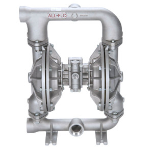 All-Flo A Series 2 in. FNPT Stainless Steel Air Diaphragm Pumps, 190 GPM w/PTFE Diaphragm, O-Ring, Valve & Ball, Stainless Seat