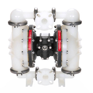 All-Flo C Series 1 1/2 in. Flange Poly Air Diaphragm Pumps, 130 GPM w/PTFE Diaphragm, Valve & Ball, EPDM O-Ring, Polypropylene Seat