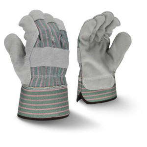 Radians RWG3300 Select Shoulder Gray Split Cowhide Leather Glove, 12 Pairs/Pk