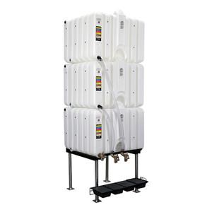 Rhino Tuff Tanks RTT-6222-NV 120/120/120 Gallon Gravity Feed Polyethylene Tank Package