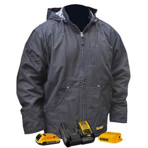 Dewalt DCHJ076A Series Heated Heavy Duty Work Jackets w/Battery Kit