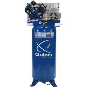 Quincy Compressor 2V41C60VC QT Pro Stationary Two-Stage 60 Gallon Air Compressor, 5 HP, Vertical, 230V 1-Phase