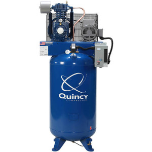 Quincy Compressor 251CS80VCB23 QT Pro Starter Stationary Two-Stage 80 Gallon Air Compressor, 5 HP, Vertical, 230V 1-Phase