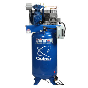 Quincy Compressor 251C80VCBM23 QT MAX Stationary Two-Stage 80 Gallon Air Compressor, 5 HP, Vertical, 230V 1-Phase