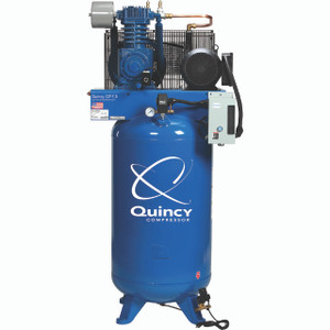 Quincy Compressor 271CS80VCB23 QT Pro Stationary Two-Stage 80 Gallon Air Compressor, 7.5 HP, Vertical, 230V 1-Phase