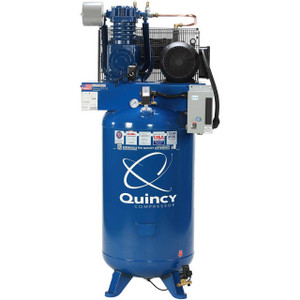 Quincy Compressor 271C80VCB23M QT Max Stationary Two-Stage 80 Gallon Air Compressor, 7.5 HP, Vertical, 230V 1-Phase