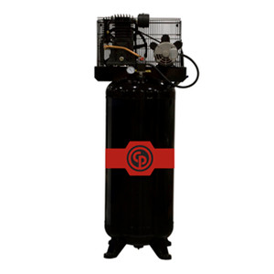 Chicago Pneumatic Stationary Two Stage Reciprocating Electric 60 Gallon Air Compressor, 5 HP, Vertical, 230V 1-Phase